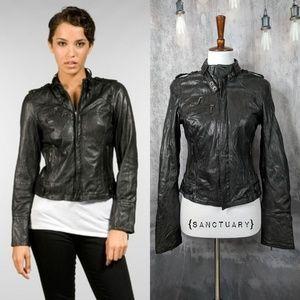 {Sanctuary} 100% Lamb's Leather Moto Jacket 😍 ✌️